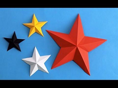 Как сделать звезду из бумаги. Оригами звезда из бумаги. Origami star
