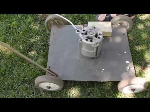 Самодельная газонокосилка с двигателем от стиральной машины