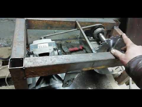 Самодельная циркулярка с двигателем от стиральной машины продолдение